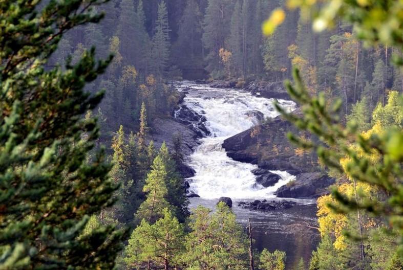 Фото водопадов Карелии