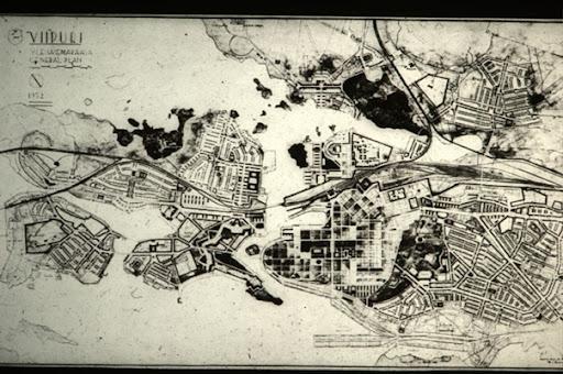 Фото плана Выборга XX века