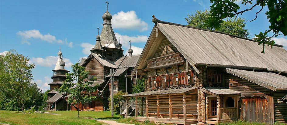 Фотография музея деревянного зодчества Витославлицы